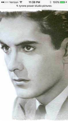 The dark and stunningly handsome young Tyrone Power -- 20th Century Fox's box office dreamy idol hired to help counterbalance MGM's hiring of Robert Taylor.