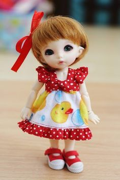Yellow ✩ Duck Dress Doll - From Monaedolly