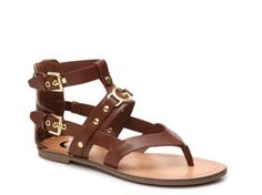 Women's G by GUESS Hartin Gladiator Sandal - Brown