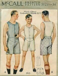 Men's and Boy's Underwear, Gents Fashion, 1930s Fashion, Vintage Fashion, Vintage Underwear, Boys Underwear, Mens Sewing Patterns, Vintage Patterns, Mode Masculine, Underwear Pattern