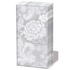 Taschentücher - Spitze - Lace silber