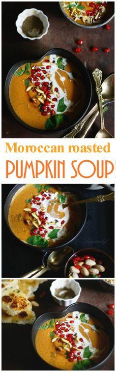 moroccan roasted pumpkin soup
