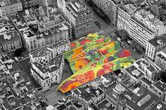 Techo ondulado multicolor emulando las olas del mar Mediterráneo del Mercat de Santa Caterina http://www.viajarabarcelona.org/lugares-para-visitar-en-barcelona/la-catedral/ #Barcelona