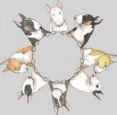 Bull Terriers Art