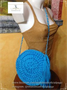 Borsa tonda, circle bag, bolsa redonda  instagram: @tshandmadeoficialpage www.facebook.com/tshandmadeoficialpage/