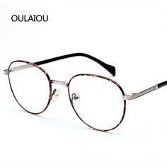 925ff72f8b Retro Metal Optical Plain Mirror Eyeglasses Frames Men Women Student Full  Frame Eye Glasses Myopia Eyewear