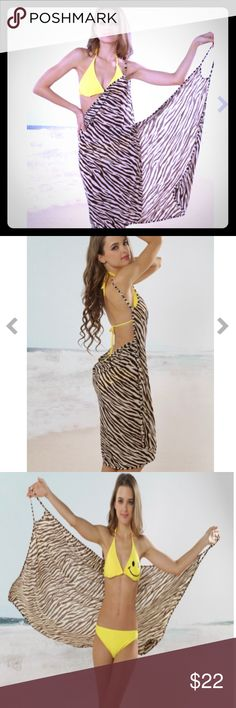 5773c4422a6a 🦓Brown zebra 🦓 bikini coverup Cute beach coverup with a brown/zebra  pink/paisley or beige print. Very light weight material for comfort in hot  weather!