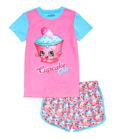 Love this Shopkins™ 'Cupcake Chic' Cap-Sleeve Pajama Set - Girls on #zulily! #zulilyfinds
