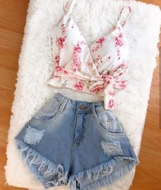 Cute Summer Outfits, Pretty Outfits, Spring Outfits, Cute Outfits, Look Fashion, Teen Fashion, Fashion Outfits, Fashion Ideas, Teen Girl Outfits