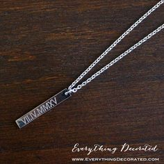 Items similar to Vertical Coordinate Necklace, Rose Gold Necklace, Bridesmaid Gift, Personalized Skinny Bar Necklace, Bridesmaid Necklace on Etsy Personalized Gifts For Her, Personalized Bridesmaid Gifts, Personalized Necklace, Monogram Necklace, Custom Gifts, Gifts For Girls, Gifts For Women, Mom Gifts, Best Bridesmaid Gifts