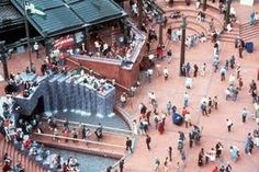 Pioneer Courthouse Square, Portland, Oregon. Completed in 1984 by Willard Martin