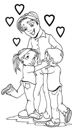 Father's day - Modern Primitive Colors, Father's Day Diy, Working With Children, Fathers Day, Coloring Pages, Sketches, Cartoon, Activities, Pattern