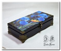 Cash box Jewelry box Wooden storage box Wood box Wood by BiJuly