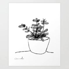 Window Plant Art Print by danhobdayart Window Plants, Botanical Wall Art, Plant Art, From The Ground Up, Buy Frames, Printable Art, Printing Process, Gallery Wall, Windows