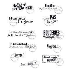Humeur du jour Plus Printable Quotes, Printable Stickers, Organization Bullet Journal, Bullet Journal 2020, French Phrases, Silhouette Portrait, Digital Stamps, Printables, Messages