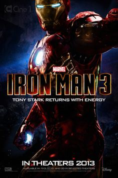 ironman 3 posters | Iron Man 3 // Póster Fan Blu-ray