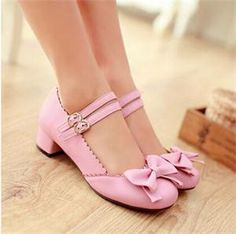 2014 Stylish Adorable Mary Janes Buckle Strap Women's Low Heel Pumps Top quality Charismatic Women Lolita Shoes Plus Size Mary Jane Heels, Low Heel Sandals, Low Heels, Pink Shoes, Girls Shoes, Lolita Shoes, Vintage Shoes, Just Girly Things, Women's Pumps