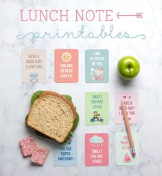Free Lunch Note Printables ~ Tinyme