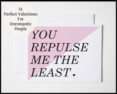 unromantic valentine's day cards
