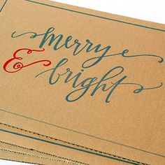 Merry & Bright Christmas placemats! Perfect for a casual Christmas season with family <3