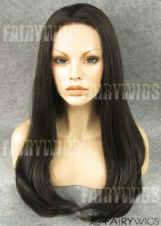 New Impressive Long Sepia Female Straight Lace Front Hair Wig 22 Inch