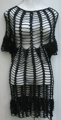 CROCHET LITTLE black DRESS by Elegantcrochets on Etsy, $159.00