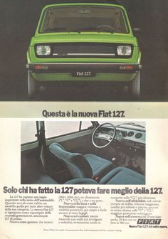 Fiat 127 A Classic Vehicle In A Beautiful Color Vecchie Auto
