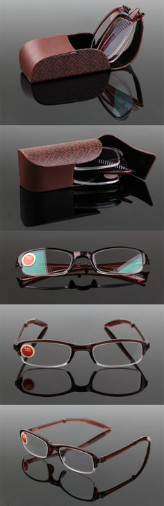 b2e99d2acf Aliexpress.com   Buy Brand Designer Women Men Fashion Portable Aspheric  Hard Resin Lens Reading Glasses High Grade Foldable Presbyopic Eyewear G415  from ...