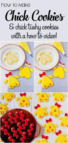 How to Make Simple Little Chick Cookies with Snack Worms | The Bearfoot Baker