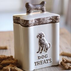 Biscuit Binge farmhouse dog treat canister