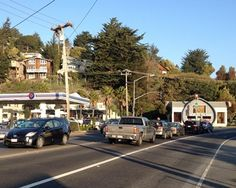 A view of the intersection at Shoreline Highway and Almonte Boulevard in Tam Junction. Thesis, Maine, Street View