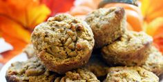 """My teammates are pumpkin crazy. They are asking for pumpkin everything. So naturally, I had to make an ALOHA pumpkin muffin."""" Coming from her, that's a pretty strong endorsement. Protein Desserts, Protein Snacks, Protein Bread, Protein Cake, Protein Cookies, Protein Powder Recipes, High Protein Recipes, Low Carb Recipes, Paleo Recipes"""