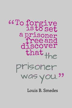 Forgive for yourself!