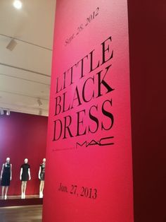 The Little Black Dress exhibition at SCADMOA.  #SCAD, #LBD, #MACCosmetics, #AndreLeonTalley