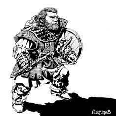 Dwarven warrior for Tagmar 2 by Artigas on DeviantArt Fantasy Portraits, Character Portraits, Fantasy Artwork, Character Art, Character Design, Fantasy Dwarf, Fantasy Rpg, Medieval Fantasy, Dungeons And Dragons Rules