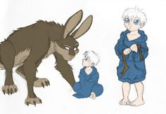 ROTG - Dark Pooka and Little Jack by merrypaws on DeviantArt