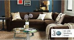decorate around the brown couch