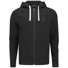 Polo Ralph Lauren Men's Zip Through Hooded Athletic Fleece - Polo... ($145)  ❤ liked on Polyvore featuring men's fashion, men's clothing, men's hoodies,  ...
