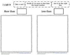 Math Coach's Corner: More Than/Less Than Sort