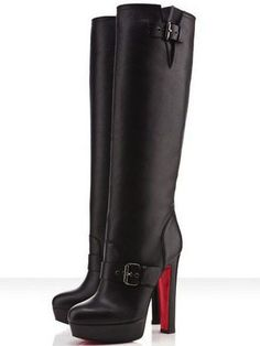 Christian Louboutin Shoes and Christian Louboutin Wedding Shoes, Christian Louboutin Harletty Boots, Ankle Boots, Shoe Boots, Women's Shoes, Black Christian Louboutin, Fashion Heels, Fashion Boots, Paris Fashion, Street Fashion, Runway Fashion