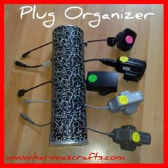 Karima is one imaginative lady because she used a Pringles container to make this plug organizer. Can you imagine that?