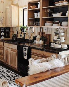 Top Ideas to Get Boho Style Kitchen Black Kitchen Cabinets boho ideas kitchen Style Top 1920s Kitchen, New Kitchen, Kitchen Decor, Kitchen Ideas, Room Kitchen, Kitchen Inspiration, Kitchen Designs, Black Kitchen Cabinets, Black Kitchens