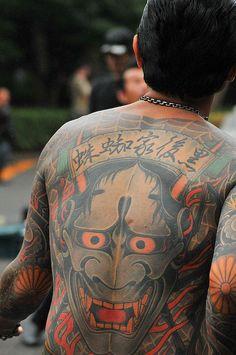 A little bit of Japan Yakuza Style Tattoo, Irezumi Tattoos, Traditional Japanese Tattoos, Japanese Tattoo Art, Hannya Mask Tattoo, Tatto Old, Naruto Tattoo, Full Back Tattoos, Gothic Tattoo