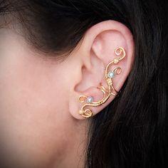 Gold Ear Cuff Elegant 24K Gold plated Ear Wrap ---so sexy!