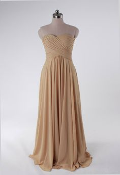 Fashionable A-line empire waist chiffon dress for bridesmaid,$134.80