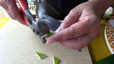 como fazer folha em mosaico
