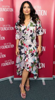 SALMA HAYEK wearing Preen at the SAG-AFTRA Foundation Conversations event in L.A.