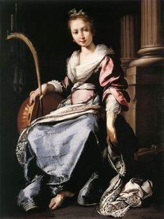 Bernardo Strozzi - Saint Cecilia, 1620.