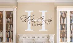 Elegant Family Name Wall Decal Set only $30 at tweetheartwallart.com