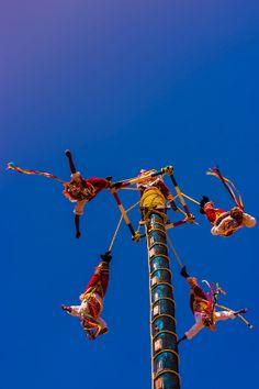 Papantla Flying men in Veracruz,  Mexico